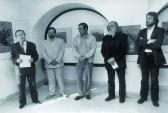 Püski Galéria (balról: FODOR András, B. KISS László, PÉNTEK Imre; megnyitja: HANN Ferenc, AKNAY János), Székesfehérvár, 1991,