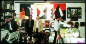 Horváth & Lukács Galéria (balról: HORVÁTH László, AKNAY János, DEIM Pál, GALLAI Gergely, SCHRET László), Nagycenk, 1995,