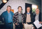 STOLTZ Dénesnél (balról: SÖRÖS Jenő, AKNAY János, Dr. S. NAGY János, DEIM Pál), Szentendre, 2001,