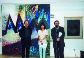 Pécsi Galéria (megnyitja: VÁMOSI Katalin; balról: AKNAY János; jobbról: GAMUS Árpád), 2004,