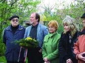 A Barcsay mellszobor koszorúzásánál (balról: BALOGH László, AKNAY János, Dr. TÖRÖK Katalin, KÁRPÁTI Márta, PISTYÚR Imre), Szentendre, 2007,