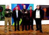 József Attila Művelődési Ház (jobbról: KORDÁS Sándor, GÖRÖG Béla, AKNAY János, TÁBORI Ferenc, PISTYÚR Imre), Vecsés, 2008,